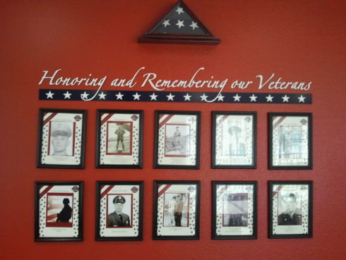 Veterans Wall at Juniper Village Memory Care Naples
