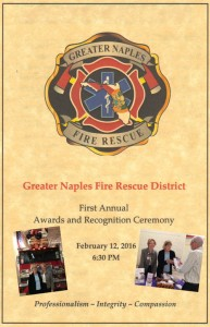 veterans visiting veterans at the greater naples fire rerscue district awards ceremony