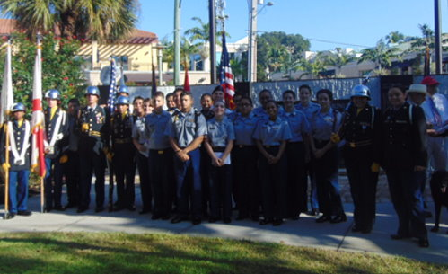 Naples HS Army JROTC at Memorial Day in Cambier Park 2015
