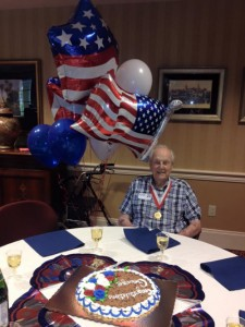 George's celebration after he received Governor Rick Scott's Florida Veteran Service Medal